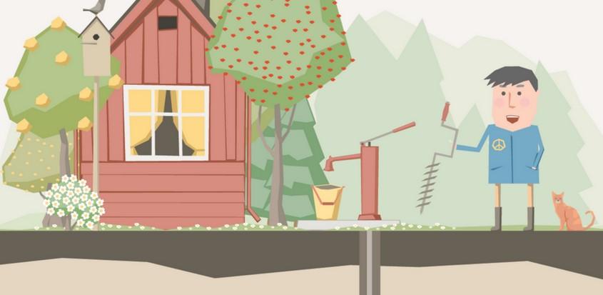 Illustration d'un puits artésien