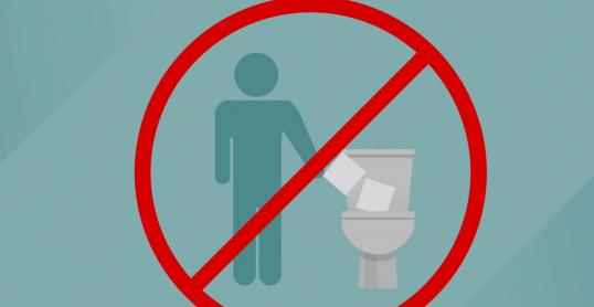 Pas de lingette dans la toilette!