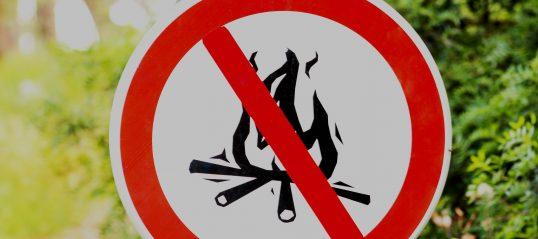 Feu interdit en tout temps dans les parcs